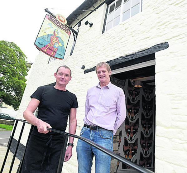This Is Wiltshire: Head chef Roger Payne and manager Gavin Hunt are ready for re-opening. Picture by Diane Vose