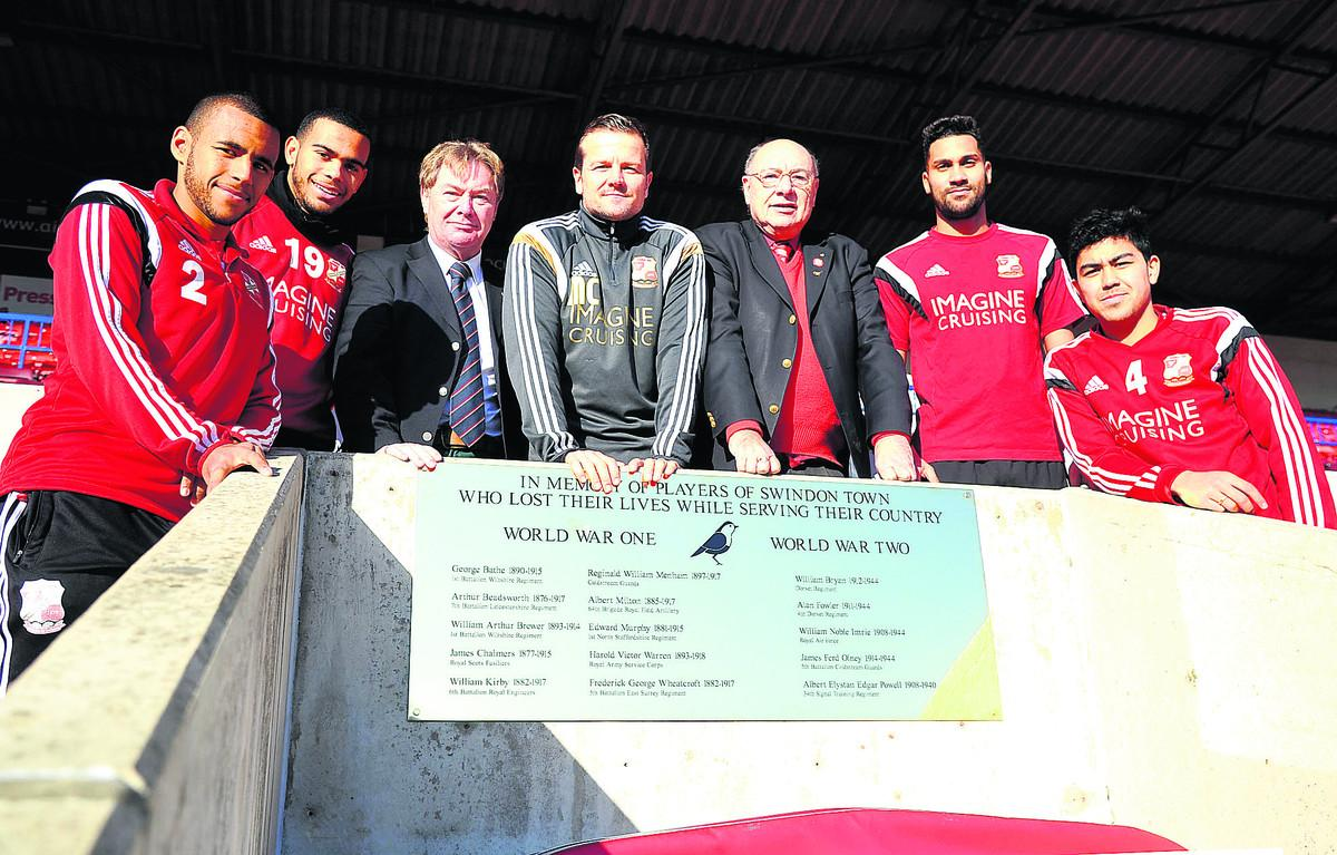 Plaque commemorates Swindon Town's wartime players