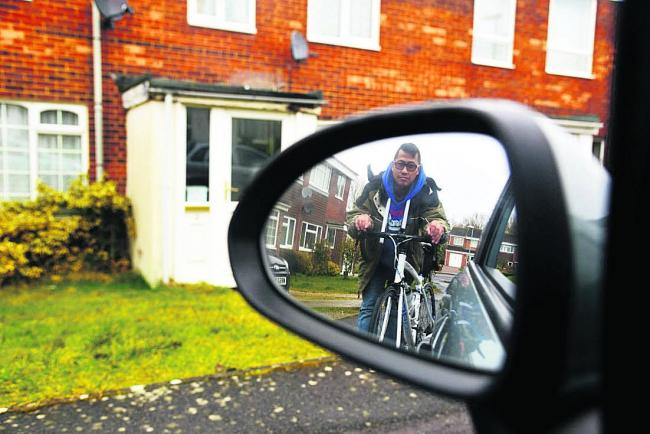 Cyclist Phillip Law, who is appealing to drivers to take care after he was knocked off his bike