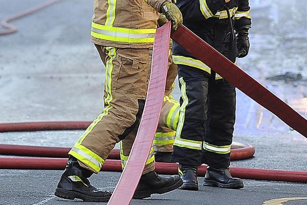 Garage fire prompts 999 call-out