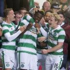 This Is Wiltshire: Dedryck Boyata, centre, netted a late header for Celtic