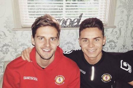 This Is Wiltshire: Jon Guthrie, left, and former Crewe teammate Billy Waters, ... - 4106398