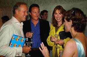 Tory Party treasurer Lord Marland with David and Samantha Cameron and Lady Marland at Lord Marland's 50th birthday party at Odstock Manor last Saturday. DB0928P507