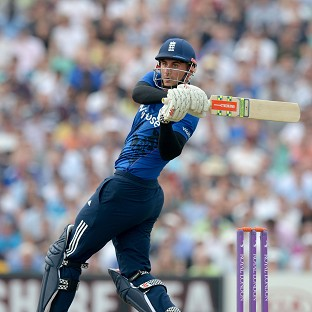 Alex Hales hits century but England total looks beatable