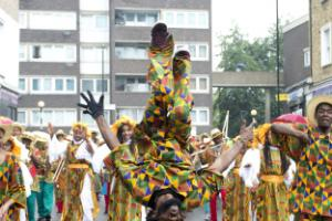 Children join the festivities at London's Notting Hill Carnival family day