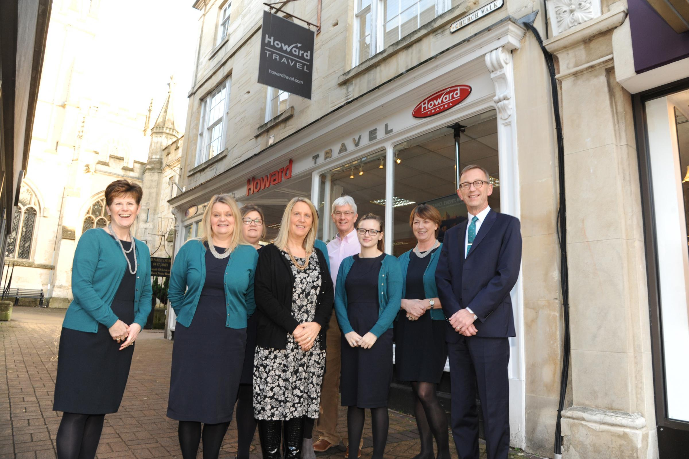 Workplace in Focus Howard Travel. Staff at Howard Travel in Church Walk Trowbridge.. Pics Trevor Porter 58211 1.