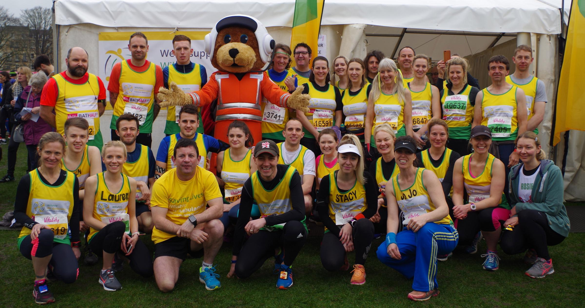 Last year's Wiltshire Air Ambulance team in Bath Half
