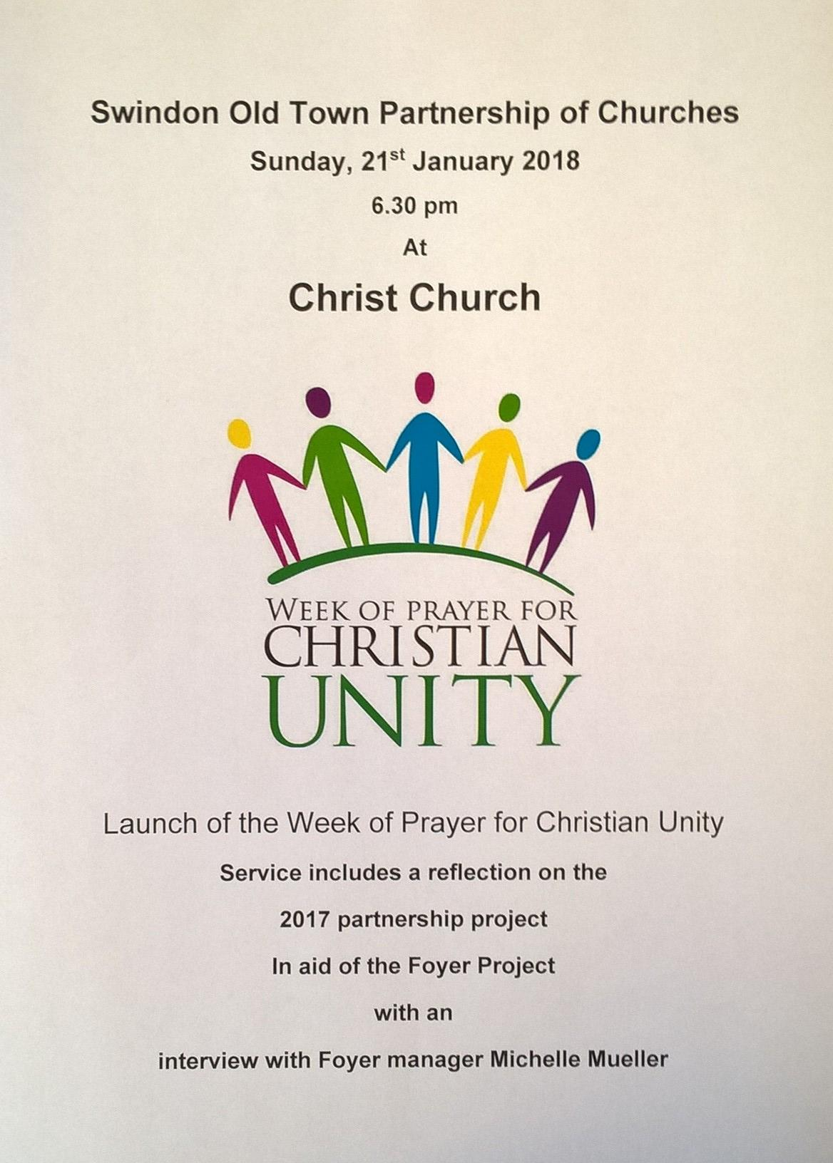 Service - Launch of the Week of Prayer for Christian Unity