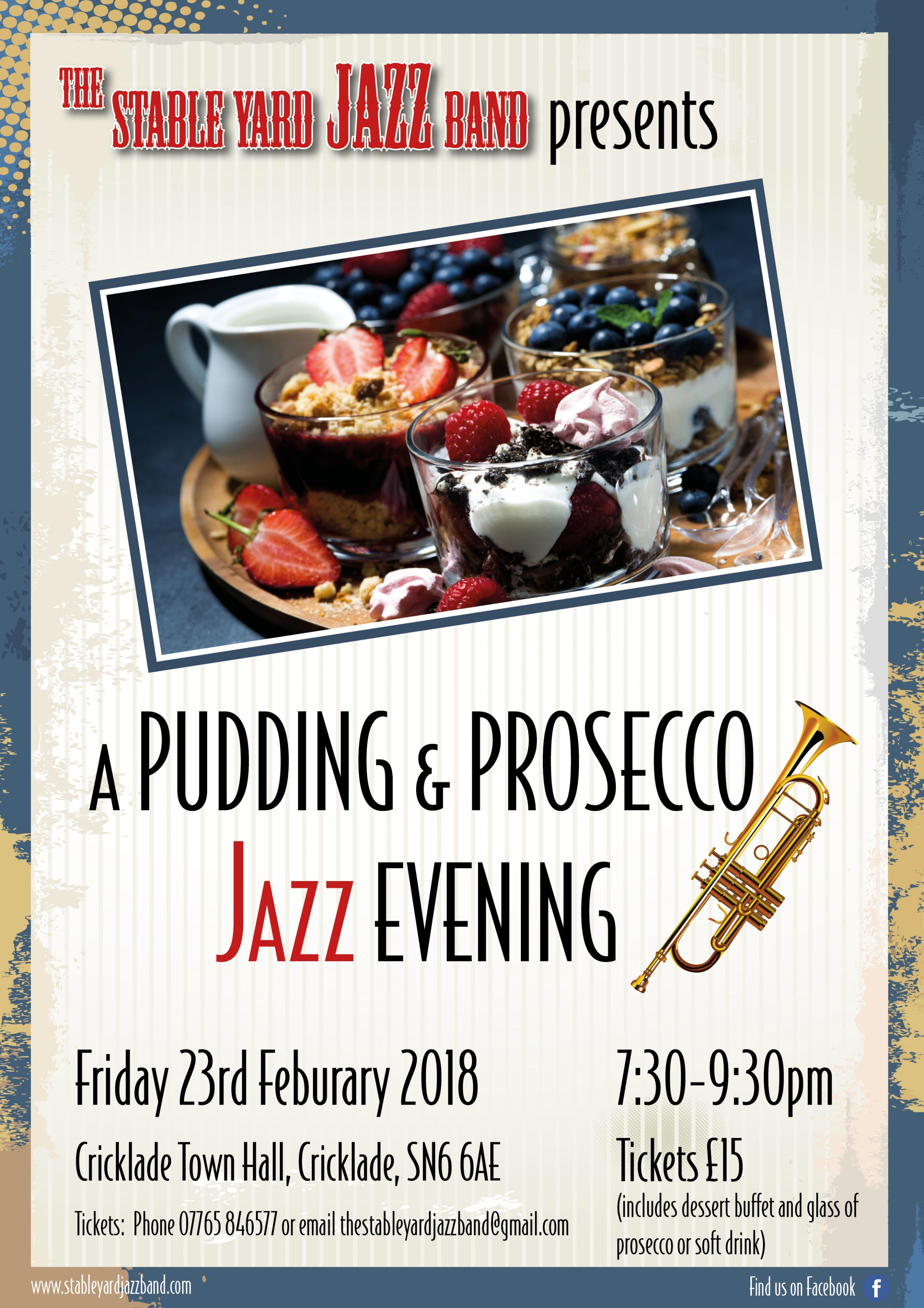Pudding and Prosecco Jazz Evening