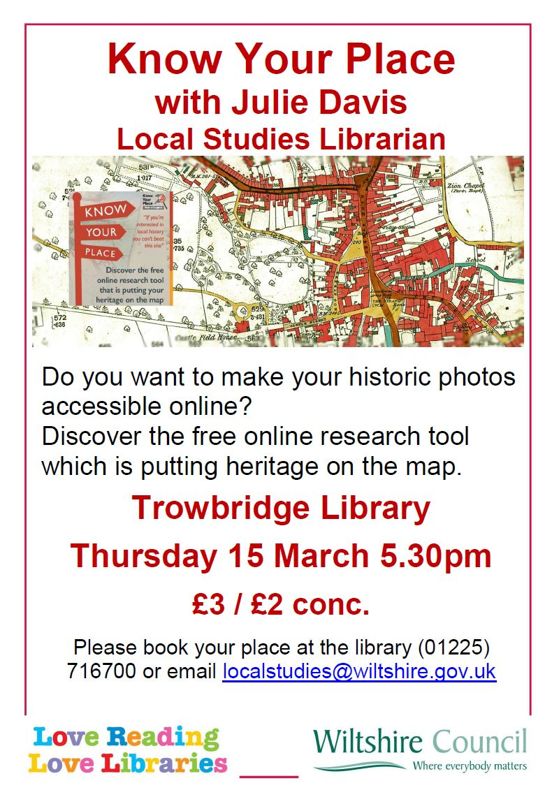 Know Your Place at Trowbridge Library