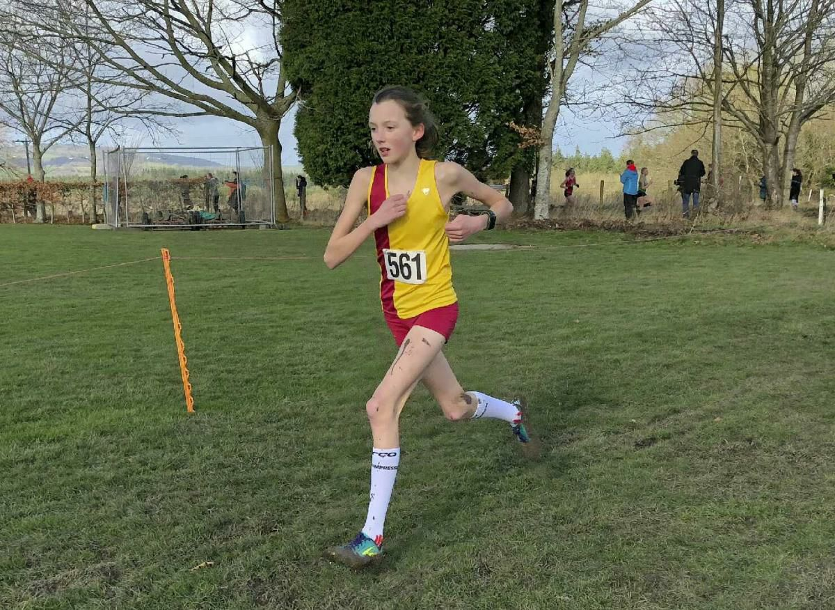 Highworth Running Club's Kiya Dee on her way to South West Schools Cross Country Championship silver in the junior girls' event