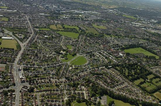 This Is Wiltshire: A Bird's Eye view of Pinehurst, where much of the housing is owned by the council