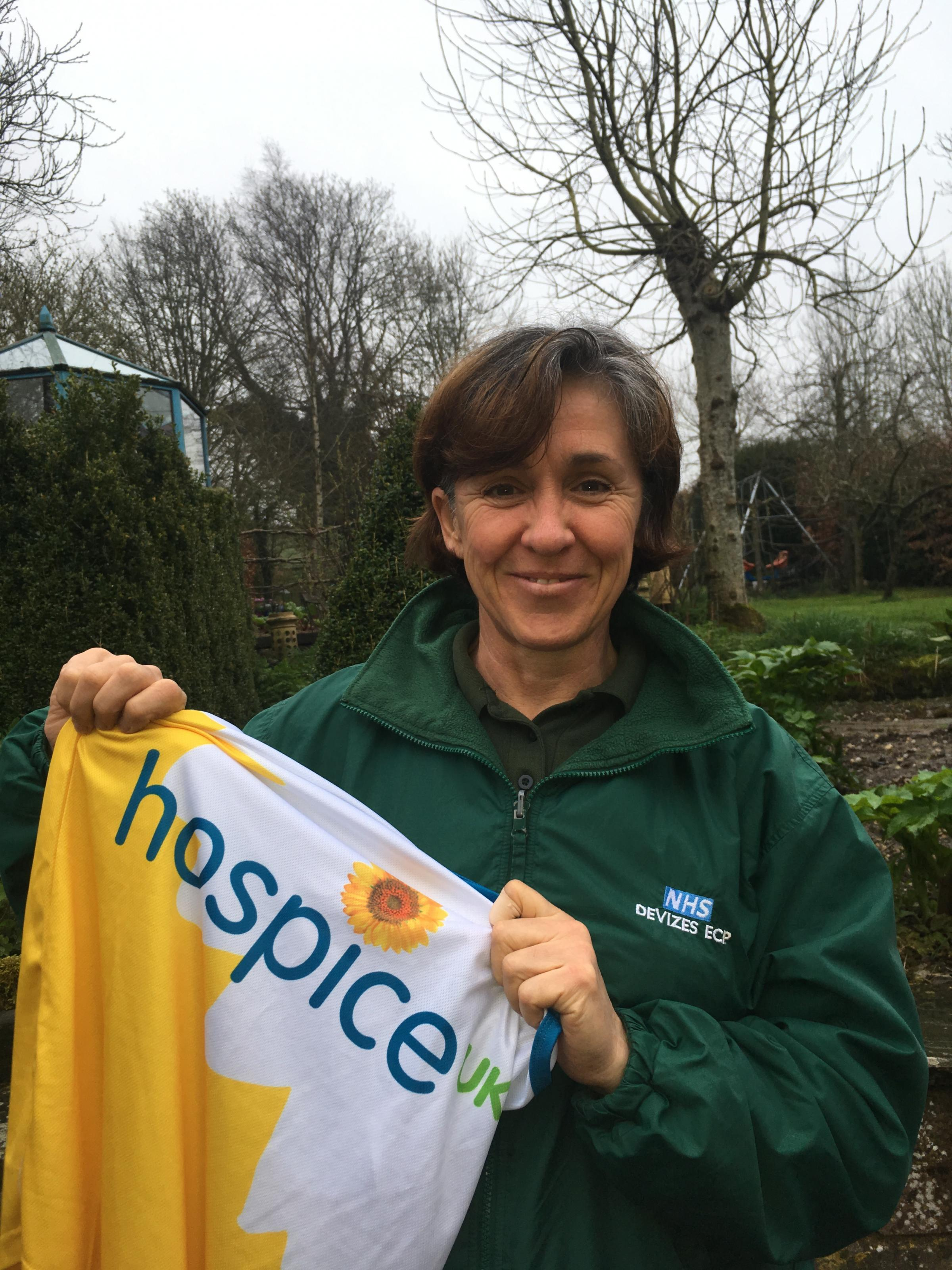 Kate Briscoe, community paramedic for Devizes is running the London Marathon