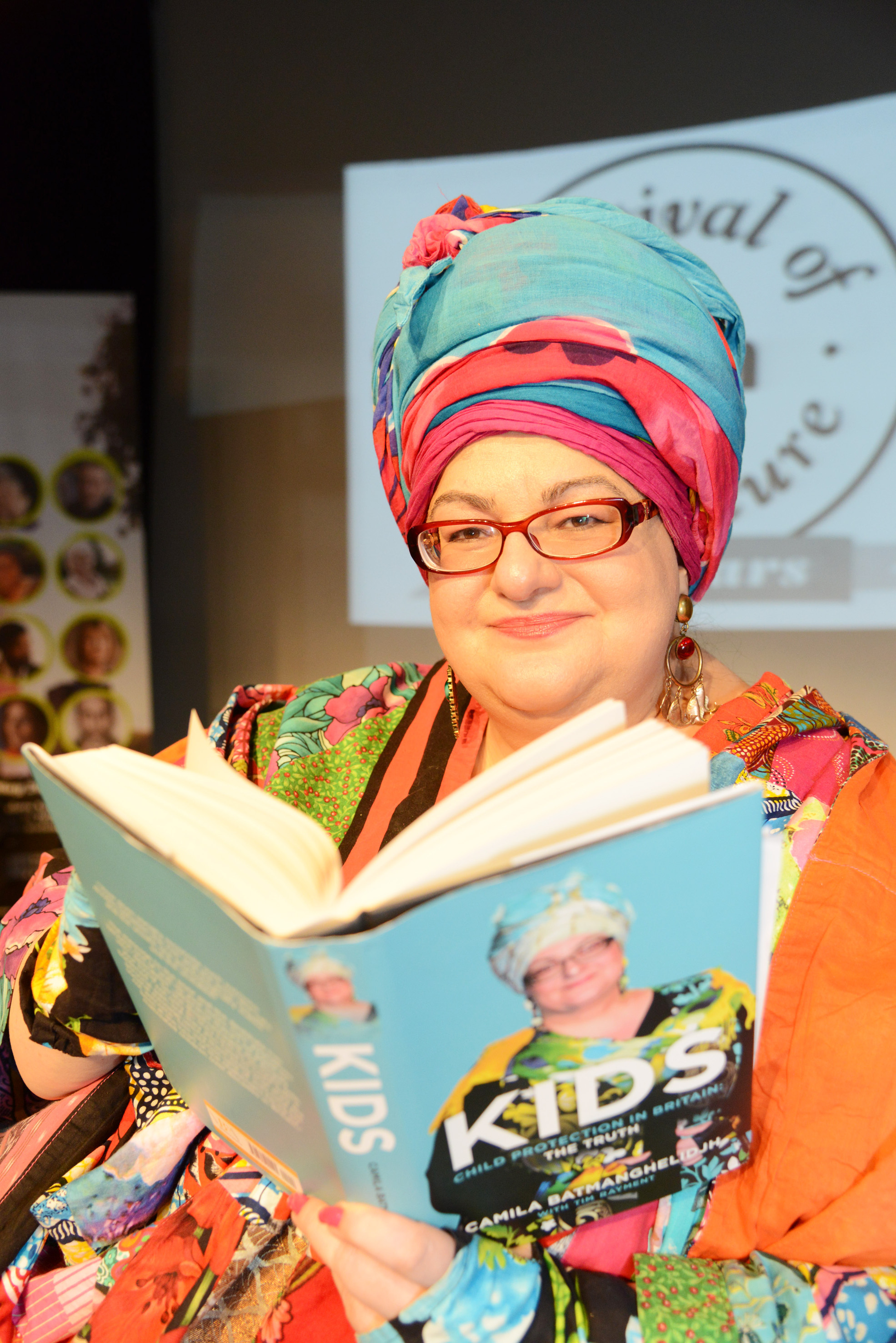 Camila Batmanghelidjh, pictured at Swindon Festival of Literature last week. Picture: THOMAS KELSEY