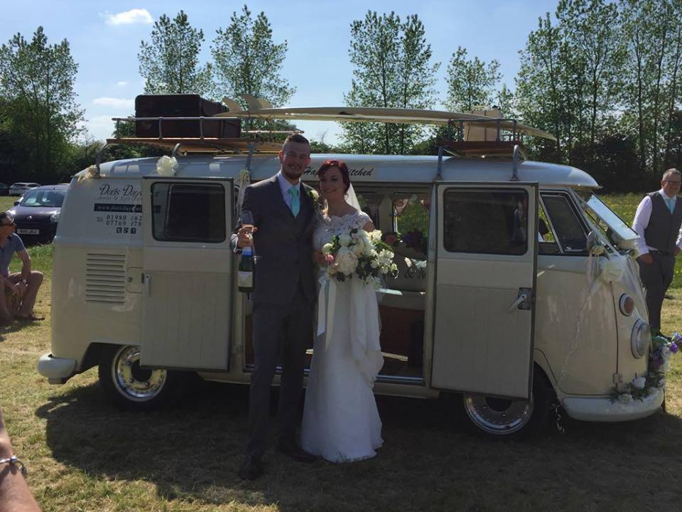 Natasha and Jamie Vine celebrated their wedding day in Worton on May 19