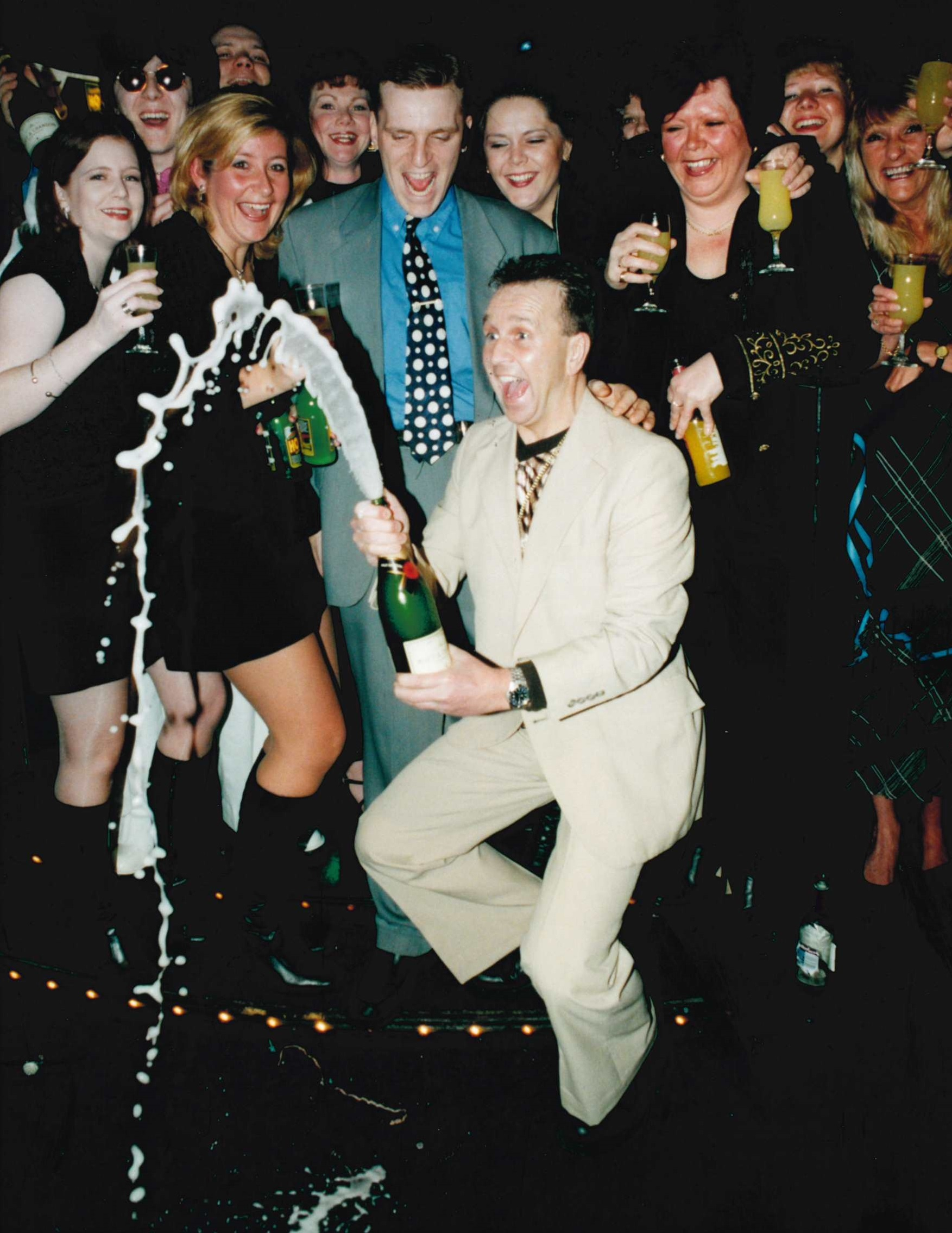 Dj Sandy Martin gets a party started at Kaos in February of 1997