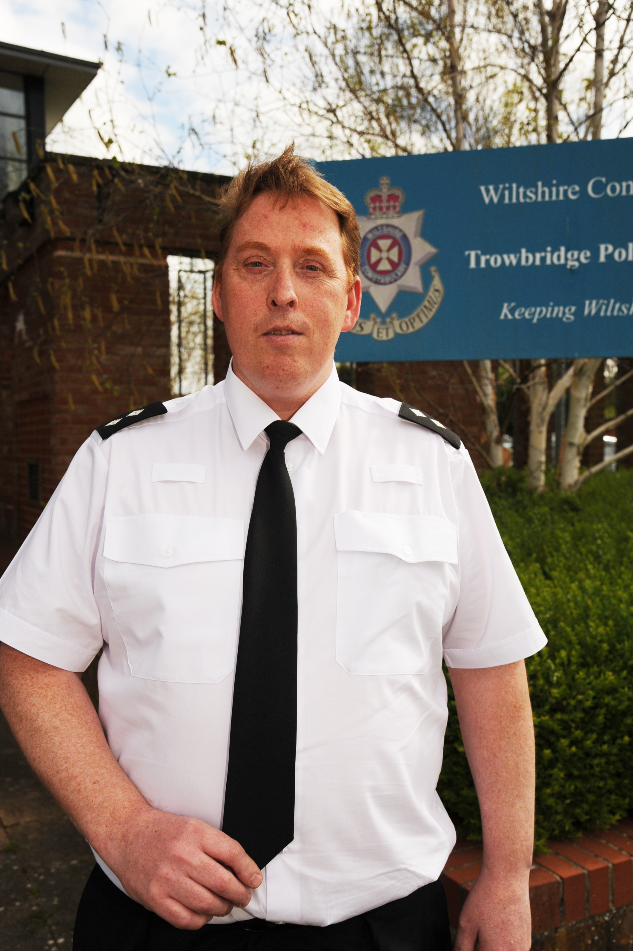 New Police Inspector Trowbridge. Inspector Andy Fee taking over  in the Wiltshire West Community Police team. Pics Trevor Porter 58466 5.