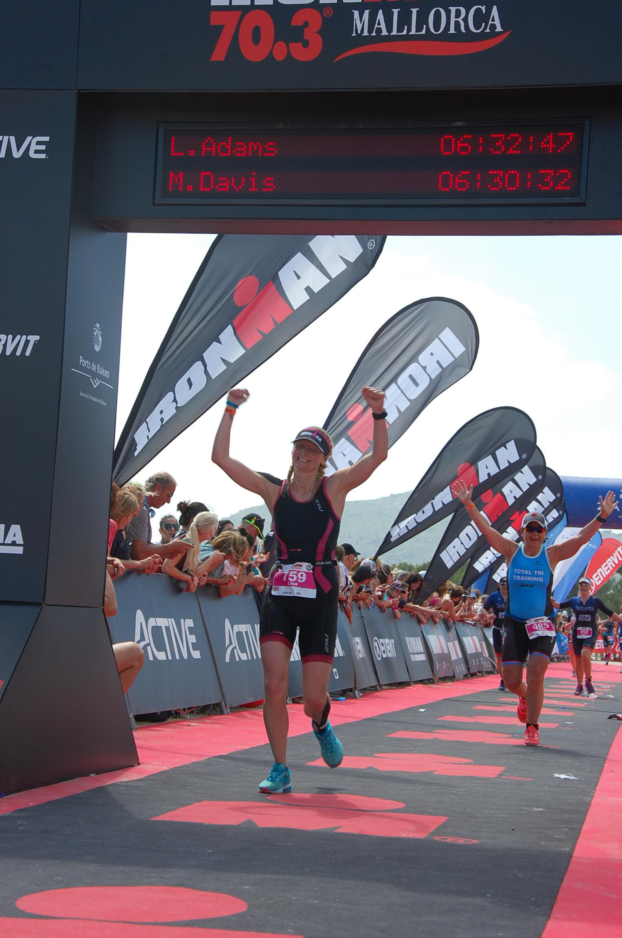 Lisa Adams finishes her first Ironman