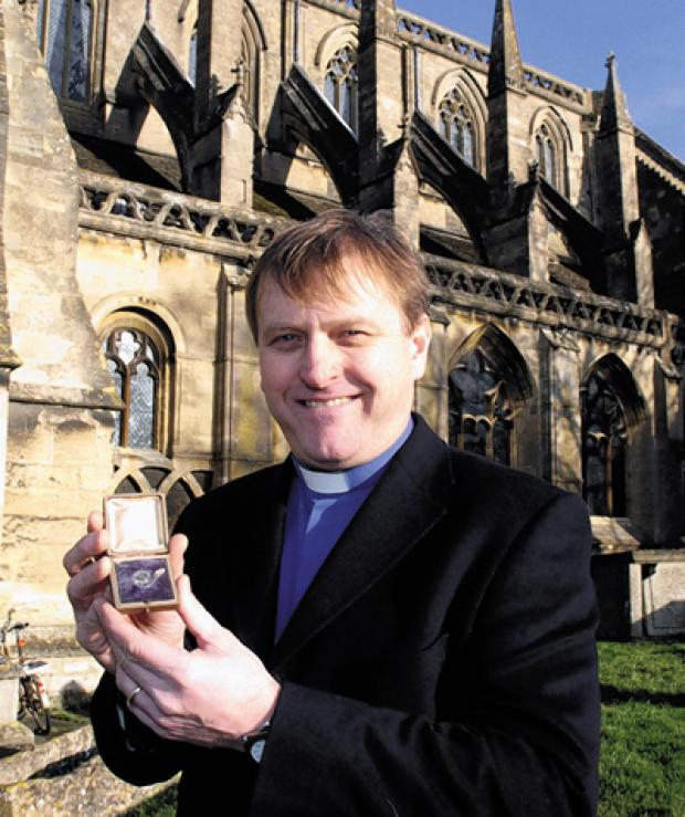 This Is Wiltshire: Rev Neill Archer with the returned coin