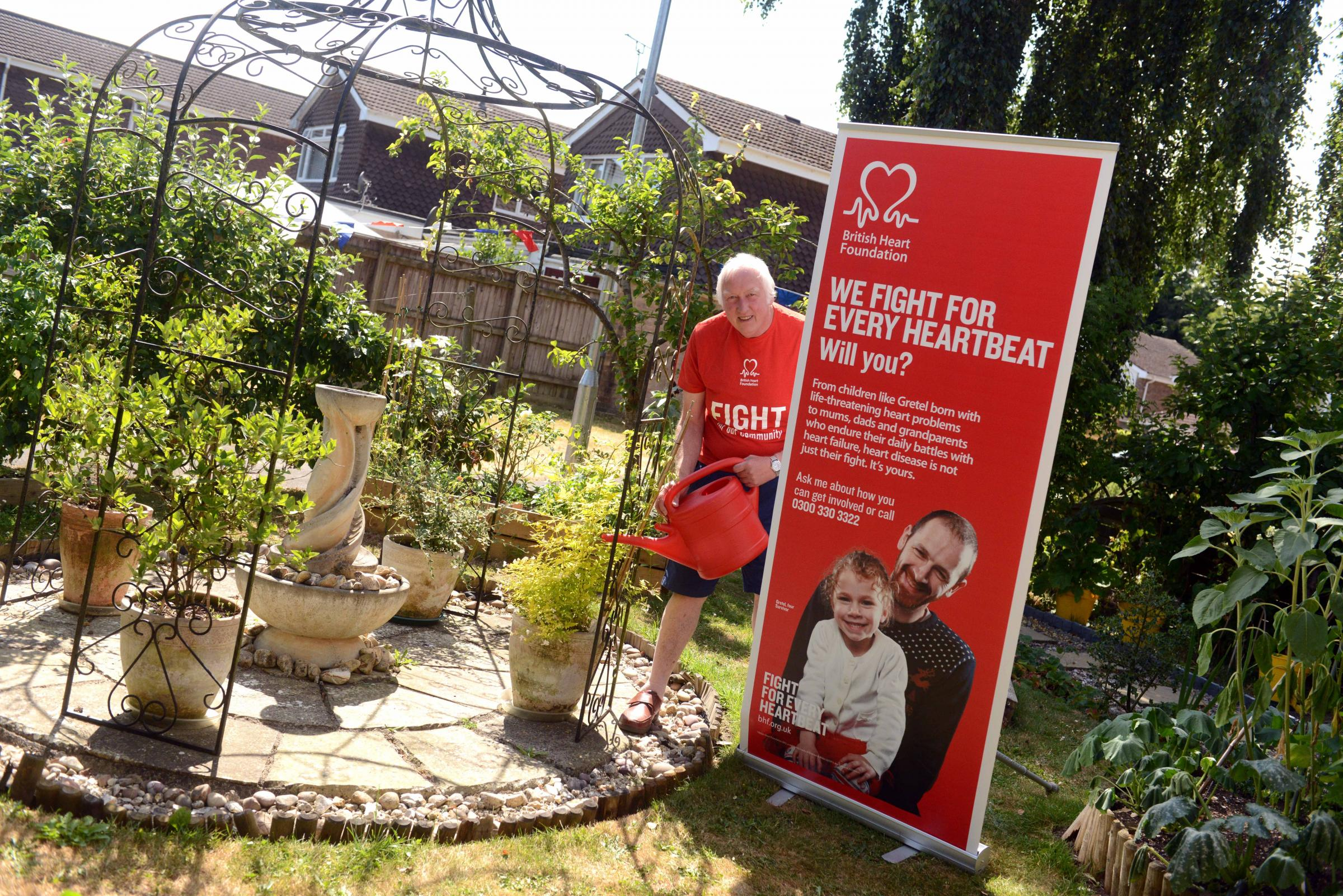 Dave Billett is raising money for BHF at the Open Gardens, Devizes. Photo: Siobhan Boyle SMB2475/1