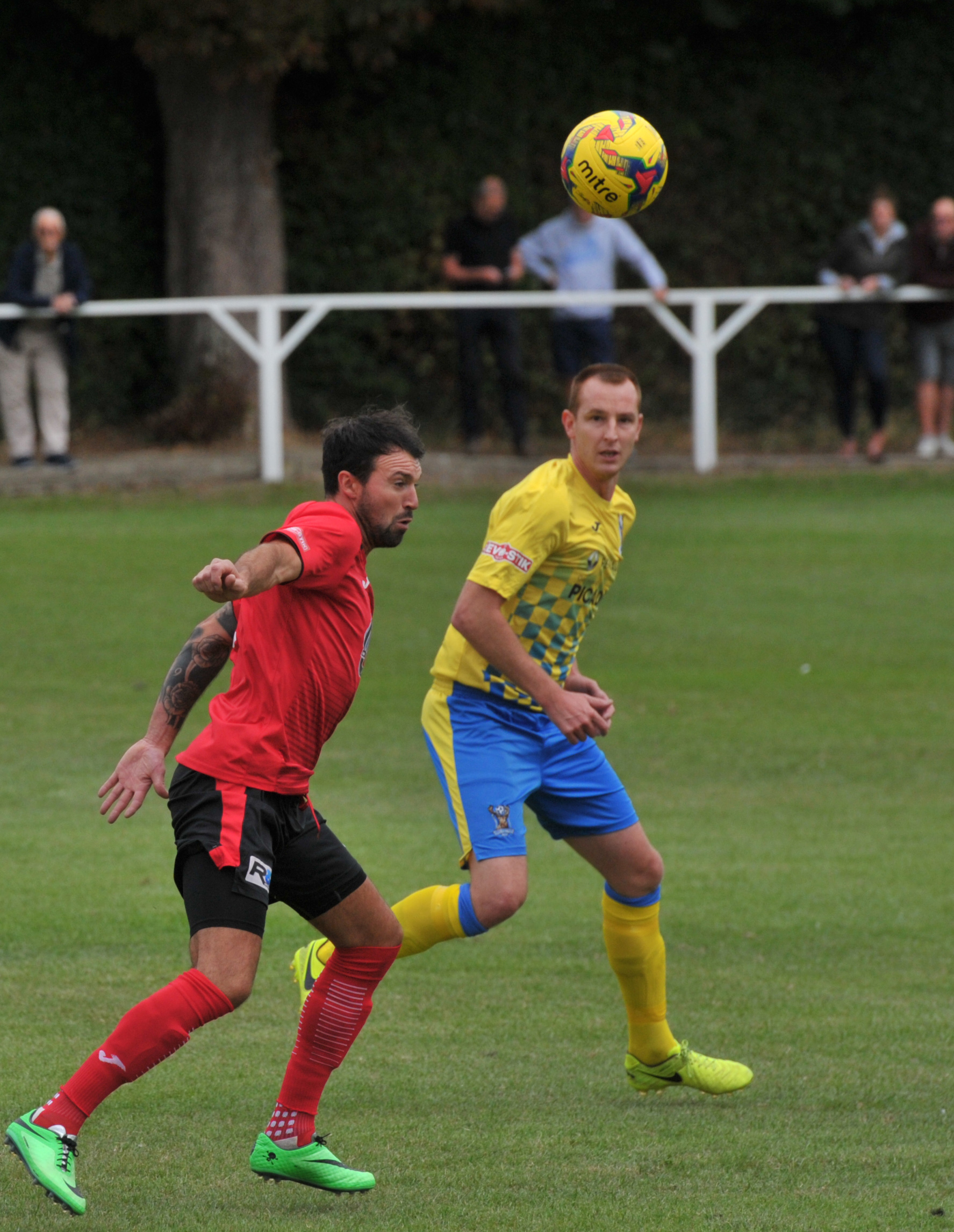 Ashley Edenborough during Highworth Town's 1-0 Southern League victory over AFC Totton.  Picture: DAVE COX