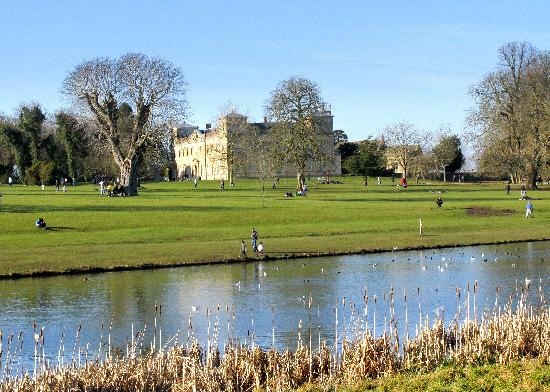 This Is Wiltshire: Travellers set up camp in Lydiard Park grounds