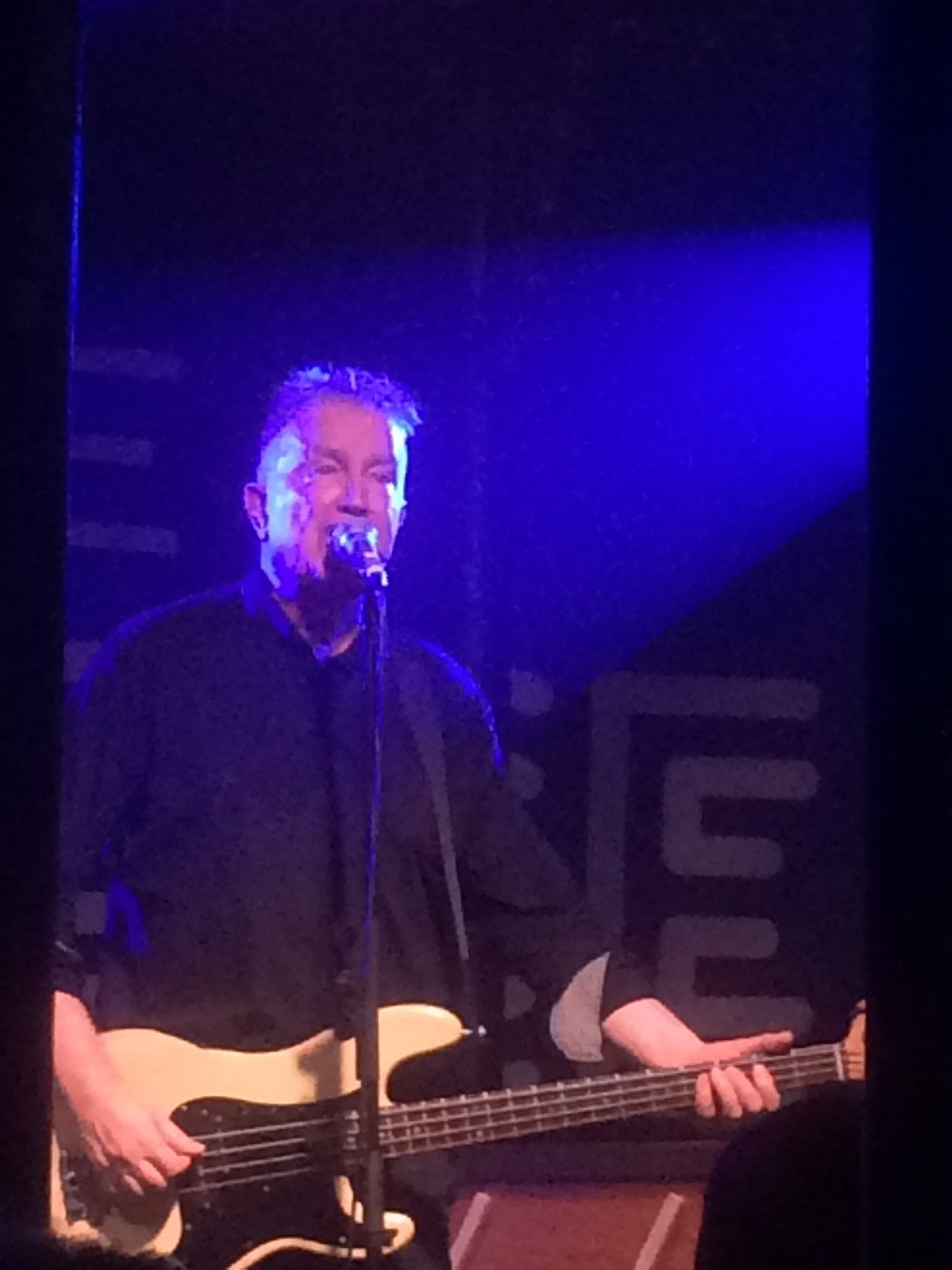 Tom Robinson on stage in Bristol