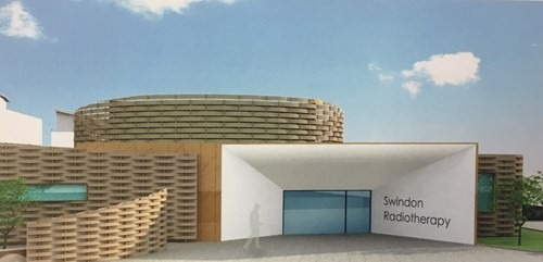 An artist's impression of how the new radiotherapy unit may look. Picture: BRIGHTER FUTURES