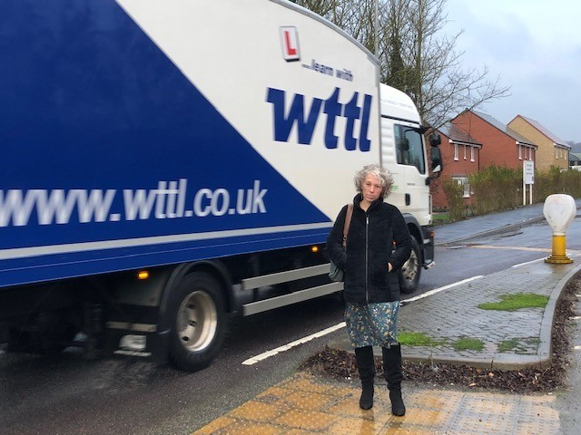 Coun CathyMartyn is concerned that without a crossing, old people and children might struggle to cross the busy Swindon Road in Wroughton