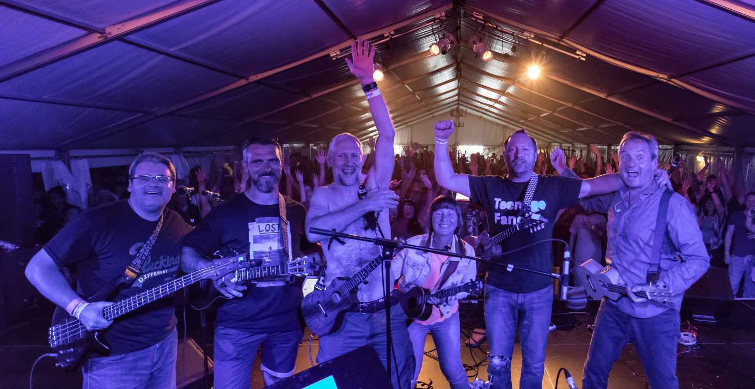 Favourites with festival goers, Plucking Different, electric ukulele band, put their own spin on popular songs when they come to Swindon