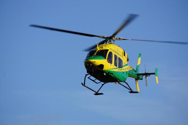 The Wiltshire Air Ambulance helicopter is flying again..