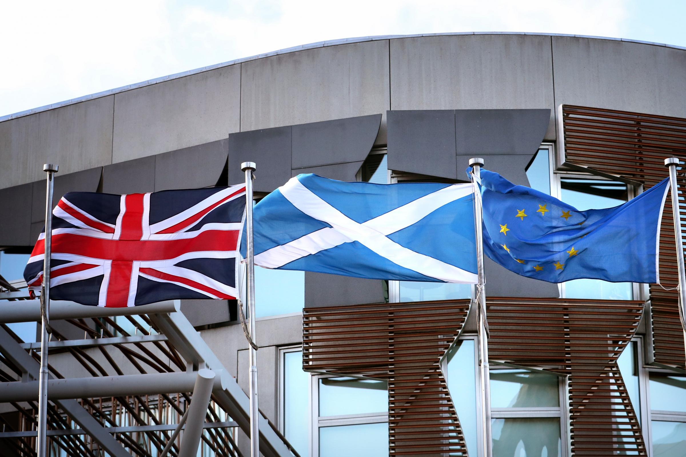 Flags outside Holyrood