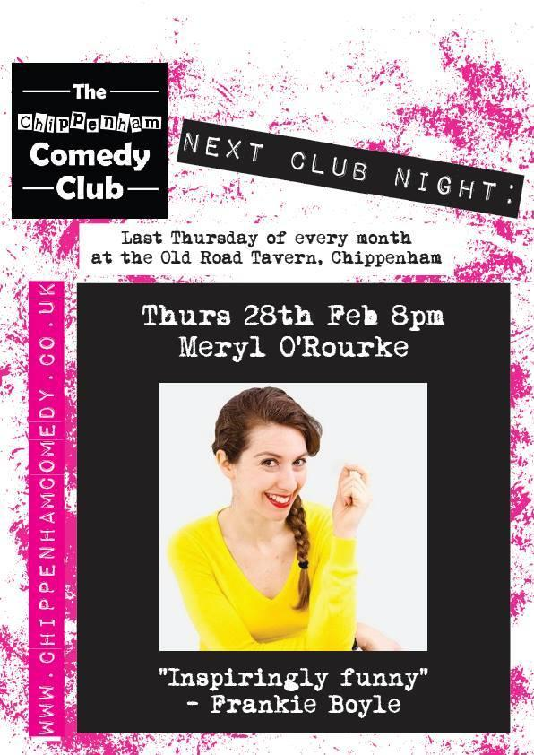 Meryl O'Rourke at the Chippenham Comedy Club on Thursday February 28