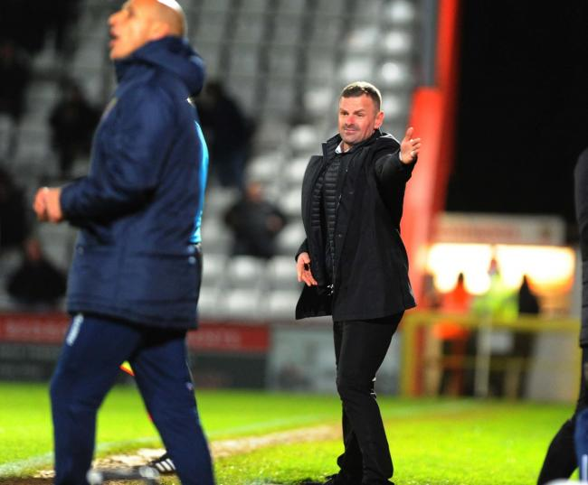 Stevenage v STFC        Pic Dave Evans     12.03.2019.Richie Wellens on the sidelines..