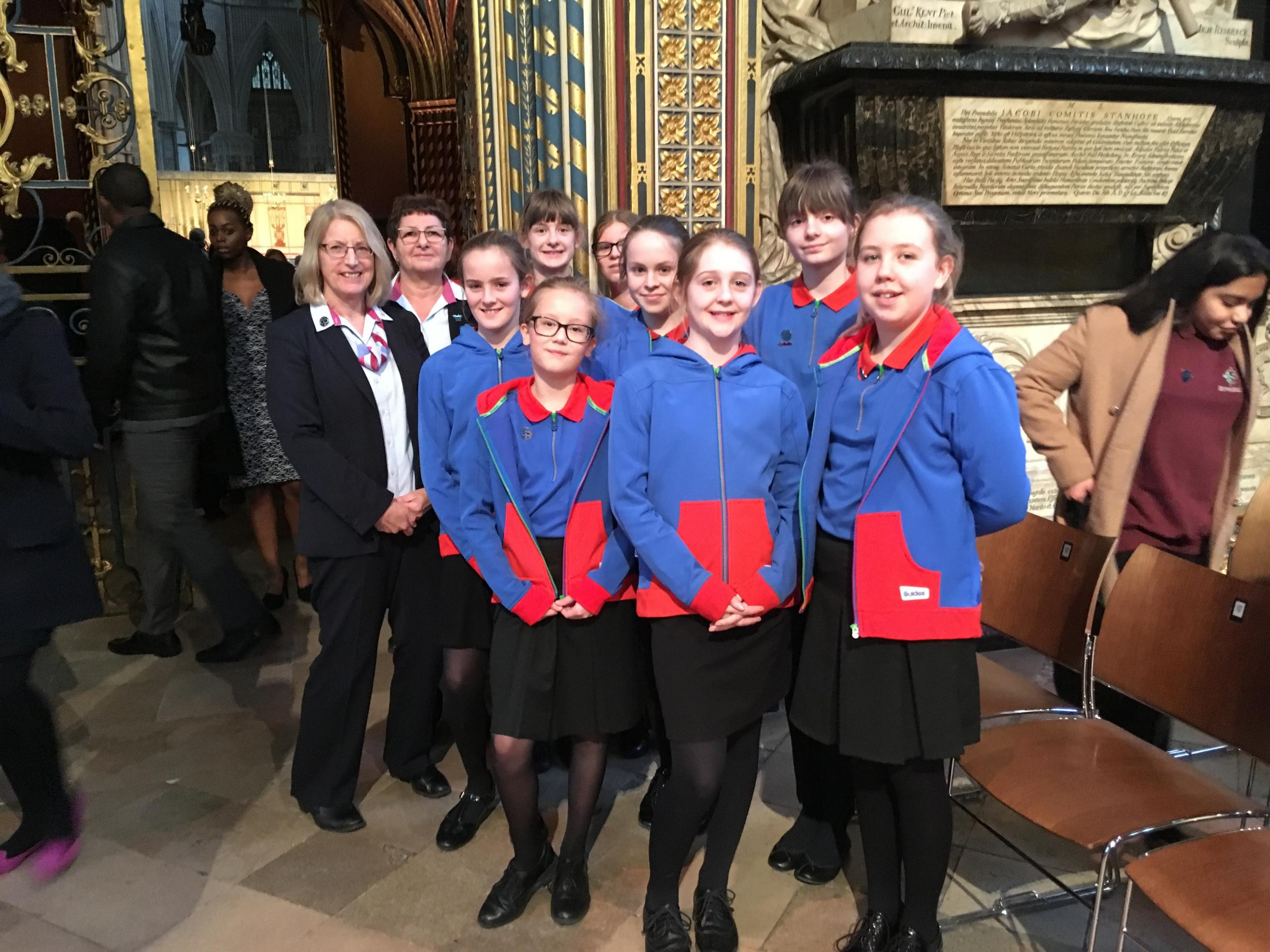 Steeple Ashton Guides represented Girlguiding UK at the Commonwealth Service in Westminster Abbey.