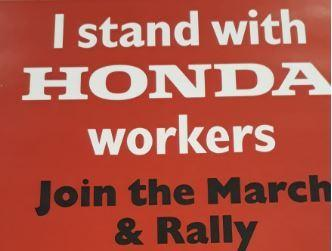 A poster for the Honda march earlier this year