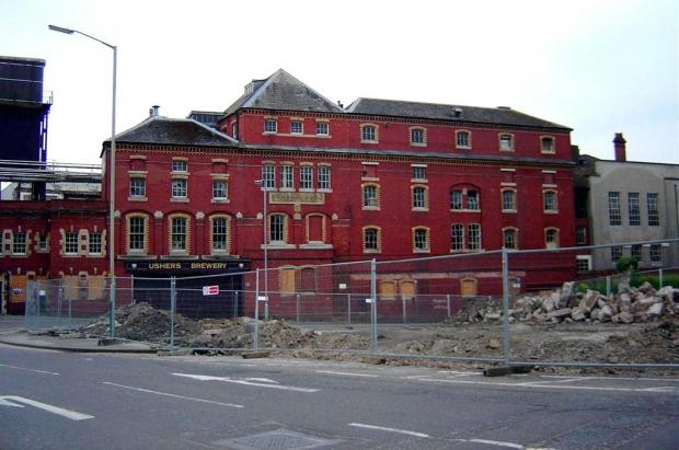 This Is Wiltshire: The Ushers Brewery in Trowbridge before it was demolished