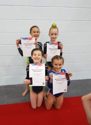Members of Moonraker Gymnastics who competed at April's South West grades event