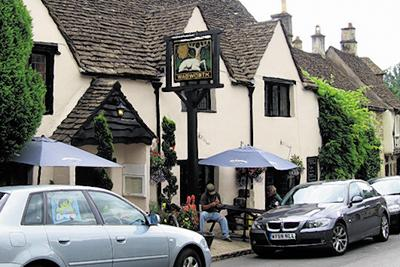 This Is Wiltshire: The White Hart at Castle Combe is a lively village pub