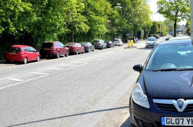 Cars parked on the pavements in Marborough Road and Pipers Roundabout	Picture: DAVE COX