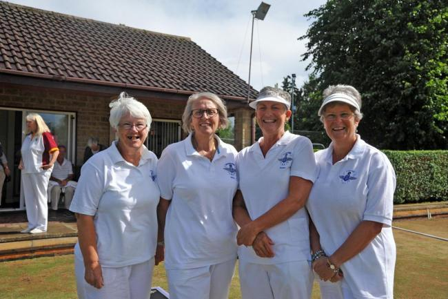 The Supermarine ladies four of Cheryl Walker, Nicki Kemble-Young, Susan Griffiths and Ann Andrews, who were crowned county champions in 2018