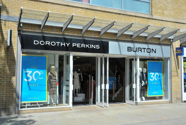 Topshop, Dorothy Perkins, Burton store closures..Pic - gv.Date 23/5/19.Pic by Dave Cox.
