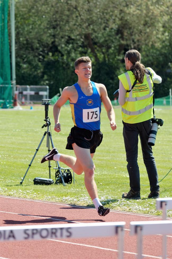 Will Stockey at the Wiltshire Track & Field Championships.                                   PICTURE: Edi Mattack