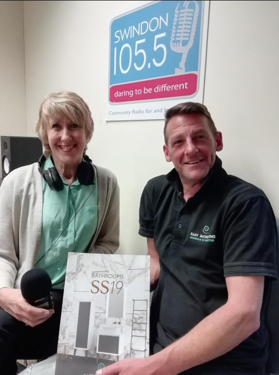 Shirley Ludford with Adrian Hedges from Easy Bathrooms