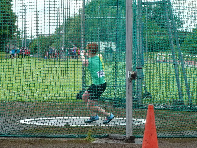 Owen Merrett in action at the Wiltshire Schools' Track & Field Championships