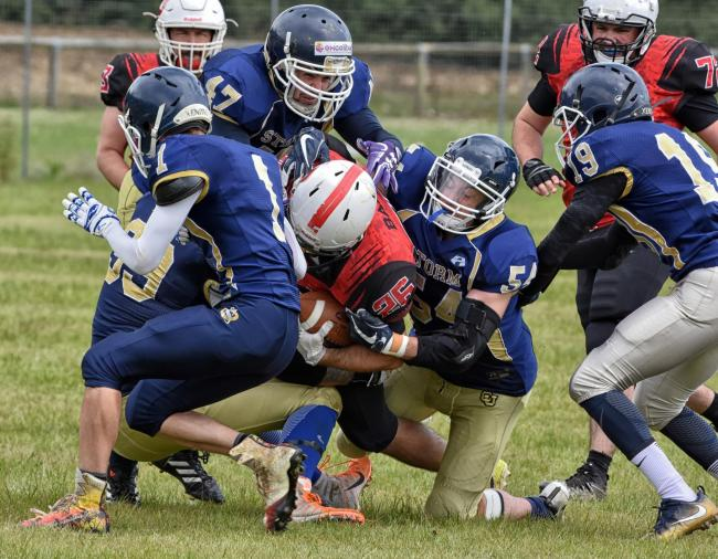 Action from the clash between Swindon Storm and Bournemouth Bobcats on Sunday