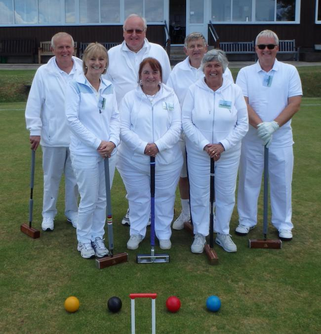Swindon Croquet Club's croquet golf team: Colin Bailey, Bev Briggs, captain Clive Smith, Jenny Walklate, Les Jerram, Sandra Jerram, Martin Briggs